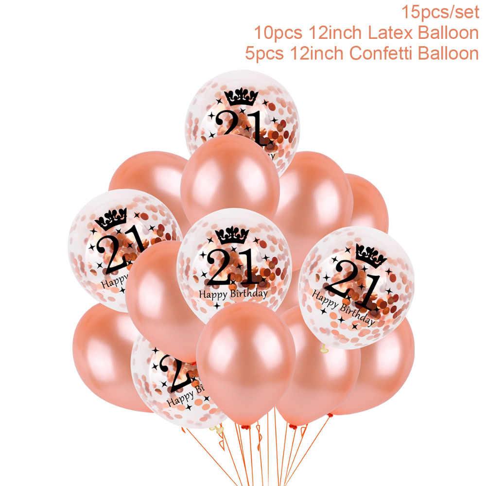 QIFU 21 Birthday Balloon 21 Years Birthday Decoration 21st Birthday Party  Decor Forever Girl Party Decor Adult Party Supplies