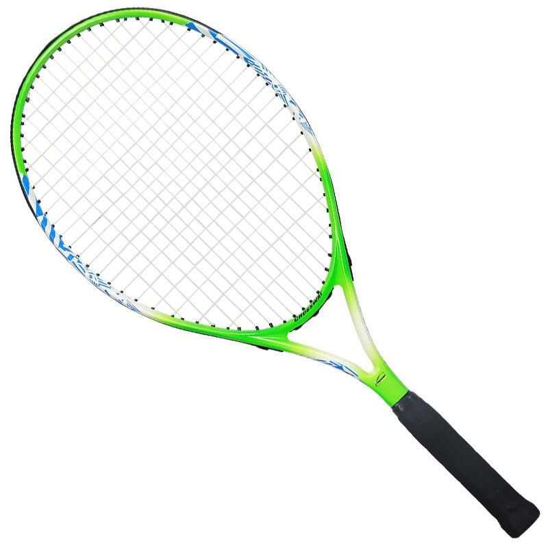 Детская Теннисная ракетка для учеников начальной и средней школы, начинающих, полностью углеродная ракетка, спортивные товары для обучения детей - Цвет: 25 inch