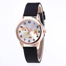 купить Fashion Cartoon Quartz Watch Women Leather Casual Dress Jewelry Bracelet Wrist Watches For Women Clock Ladies Watch kol saati по цене 197.33 рублей