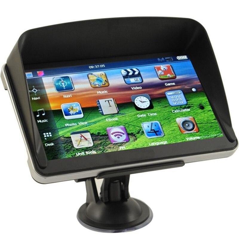 7 zoll Auto GPS Navigation 8 gb mit FM MP3 MP4 256 mb DDR/800 mhz Detaillierte Karten Russische oder andere Freies neuesten Karten Multi-sprachen