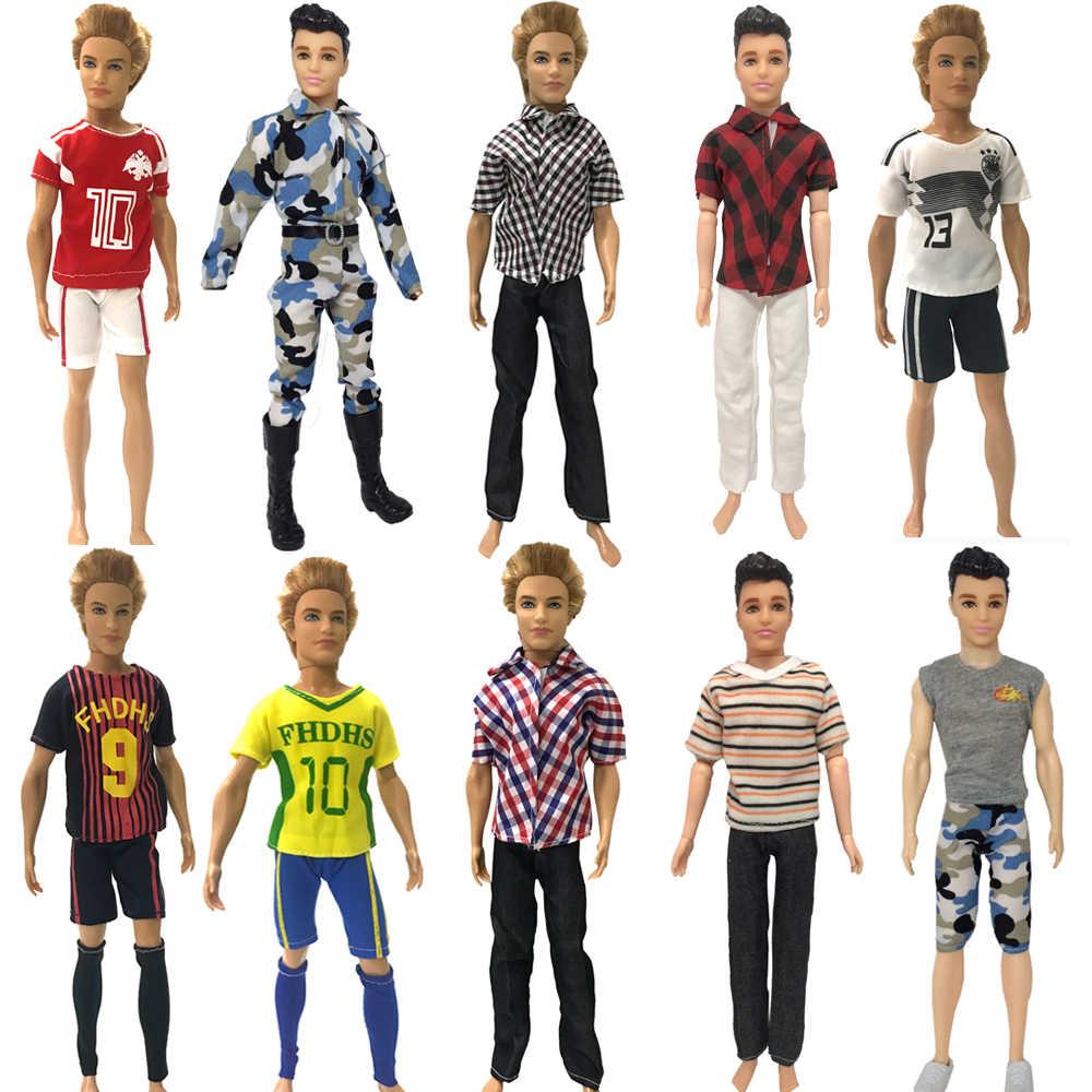 NK One Pcs Prince ตุ๊กตาสบายๆทำด้วยมือเสื้อผ้าแฟชั่นชุดกีฬาชุดสำหรับตุ๊กตาบาร์บี้เด็ก Firend สำหรับเสื้อผ้าตุ๊กตา Ken JJ