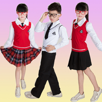 Children's Chorus Costume Boys and Girls School Uniform Primary School Students Long sleeved England Uniforms