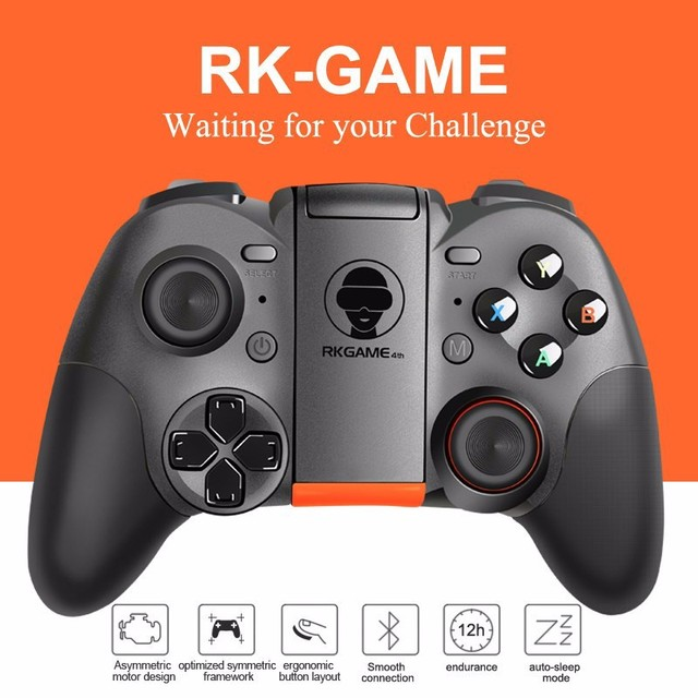 21 01 Rkgame 4th Portatil Bluetooth Google Gamepad Controlador De Juegos Para Android Telefono Tablets Tv Box Vr Gafas Vr Caso Control Remoto