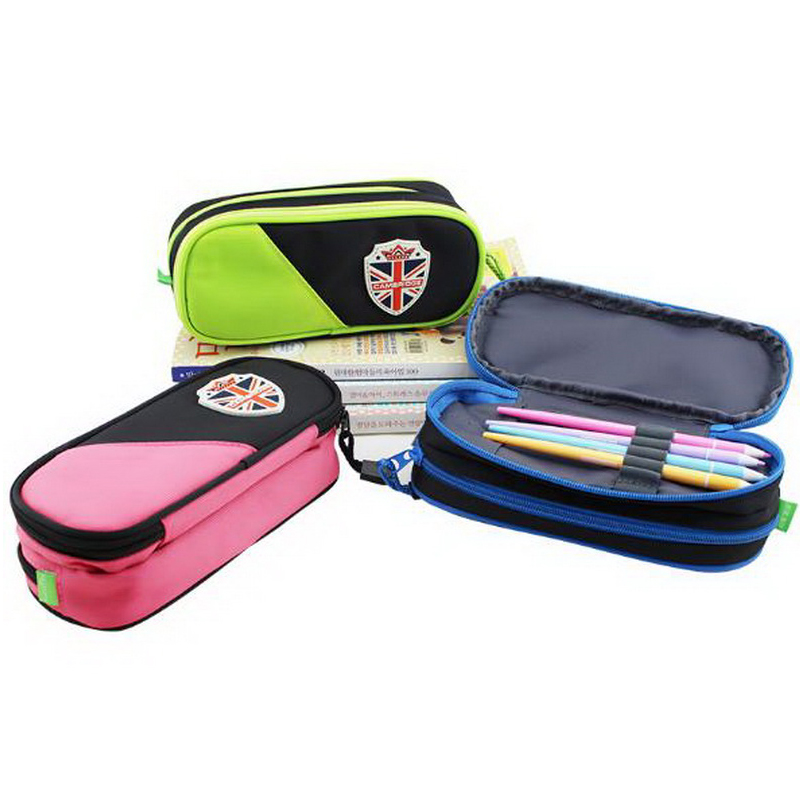 220714/Pupils boys and girls large - capacity children 's stationery pencil pockets layered simple pencil bags kid s box 2ed 5 pupils bk