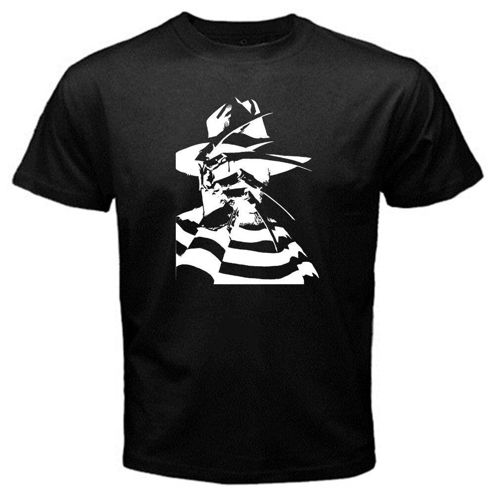 Summer Style Fashion Freddy friday 13th halloween classic creepy clown horror movieT-Shirt Black Anime Casual Clothing