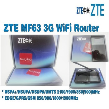 10 unids/lote desbloqueado ZTE MF63 21mbps router wifi dongle mifi móvil Punto 3g pocket pk mf61