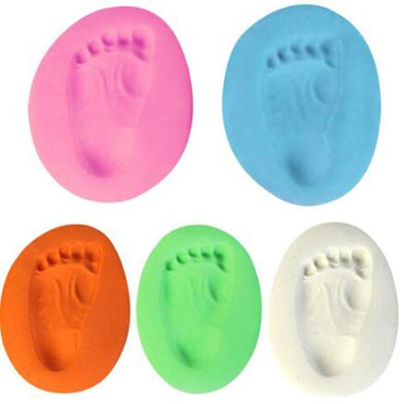 1pc Baby Hand Print Footprint Imprint Kit Casting Baby Air Drying Soft Clay Babys on Progress Souvenirs Hand Ink Pad Fingerprint