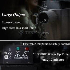 Image 4 - DJ maszyna do mgły nisko leżący 3500W Nimbus suchy lód maszyna do dymu Party parkiet weselny oświetlenie pokaż dekoracji pokryte 200 mkw