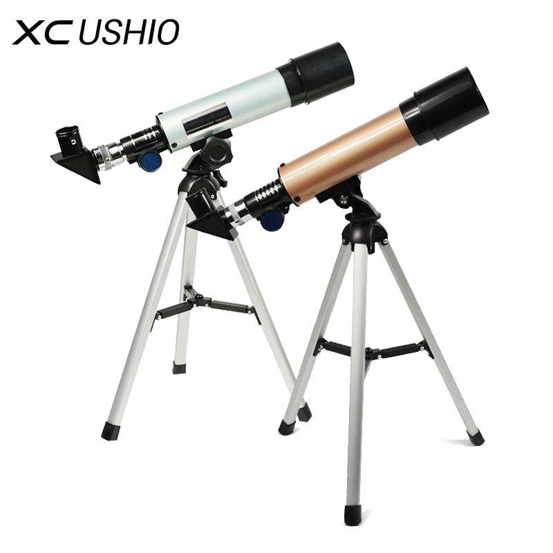 F36050M Открытый Монокуляр космический телескоп, астрономия с Портативный штатив Зрительная труба 360/50 мм раздвижной телескоп