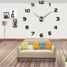 E-COEUS Acrylic+Eva Wall Clocks Single Face Circular Antique Style 9 mm Sheet multi-piece Set Decorate Living Room Clock