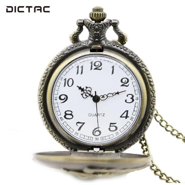 Train Copper Pocket Watch Fob Pocket Watch Vintage Jewelry Retro Gifts Quartz