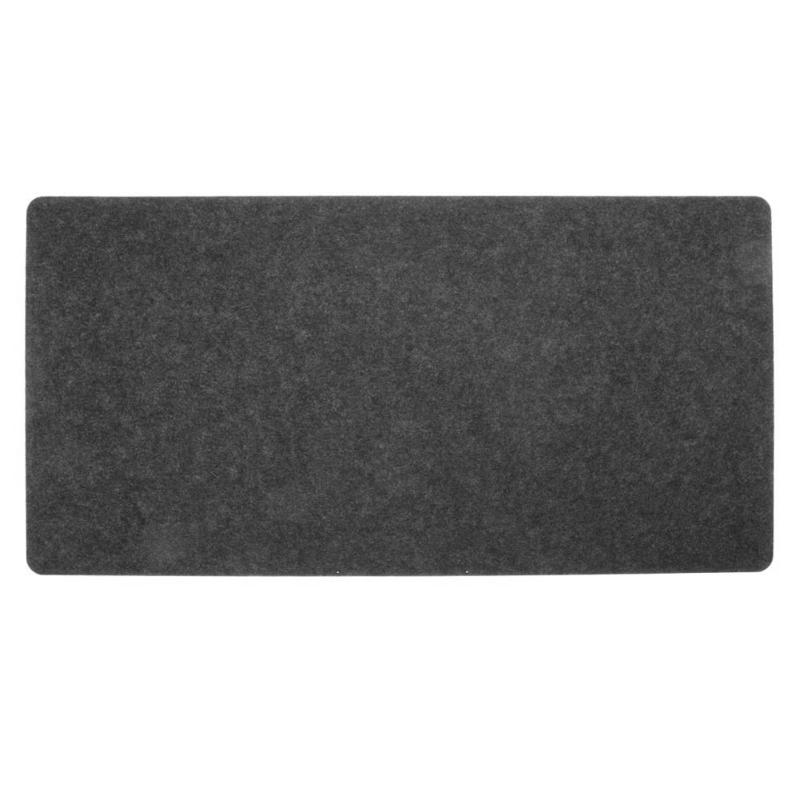 Us 2 23 10 Off Simple Felt Cloth Mouse Pad Keyboard Cushion Pad Office Home Desk Mice Mat Supplies 630 X 325 X 2mm Large Size Black Dark Grey In