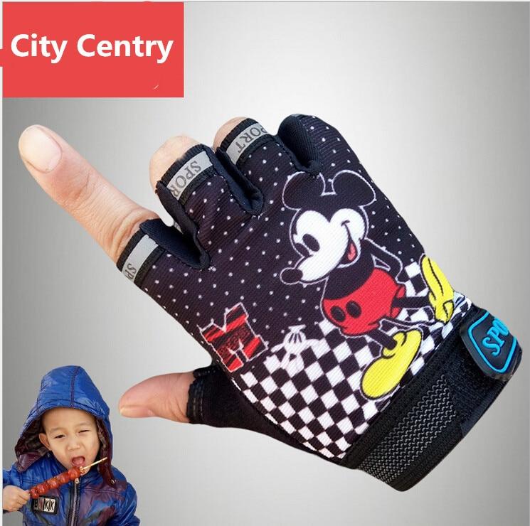 Children Road Bike Gloves Breathable Riding Half Finger
