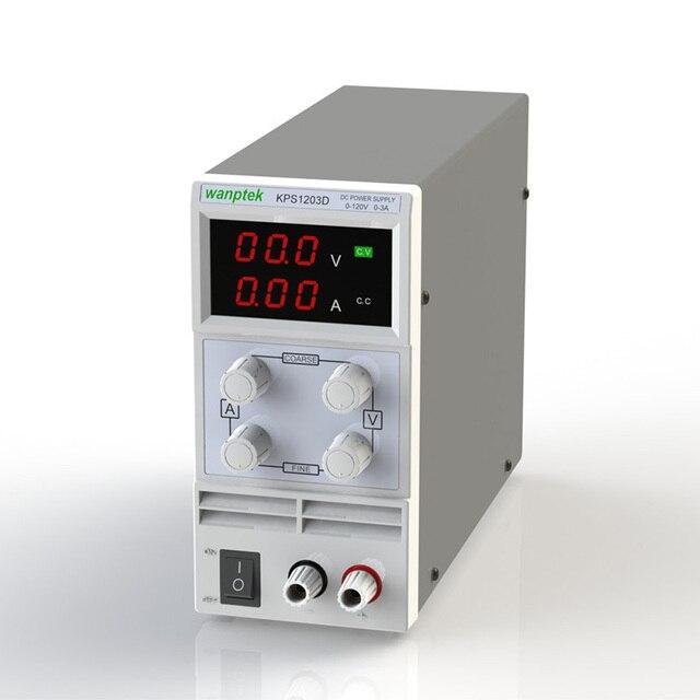 KPS1203D Verstelbare Hoge precisie dubbele LED display schakelaar DC Voeding bescherming functie 120V3A 110 V/220 V 0.1 V/0.01A EU