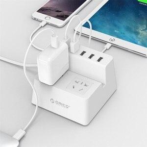 Image 5 - Смарт розетка ORICO Power Strip для зарядки настольного зарядного устройства с 2 выходами переменного тока и 5 usb портами для телефонов, планшетов и настольных компьютеров (ODC)