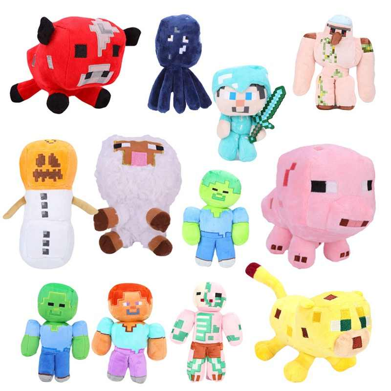 Plush Toys Soft Stuffed Animal Doll Kids Game Cartoon Toy Enderman Gift For Child