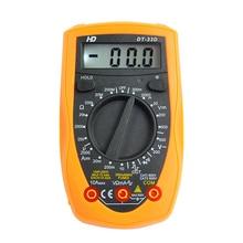 1 шт. Цифровой мультиметр измерительный Контролер Высокая точность AC/DC Ом ручной простой цифровой измеритель мультиметр для с батареей