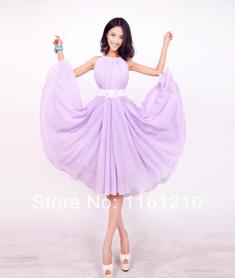Lavender Short Wedding Sundress Summer Beach Bridesmaid Maxi dresses ...