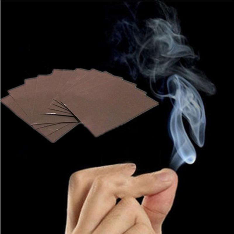 Subcluster 50 Pcs/Set Fun Magic Smoke from Finger Tips Trick Smokes Surprise Prank Joke