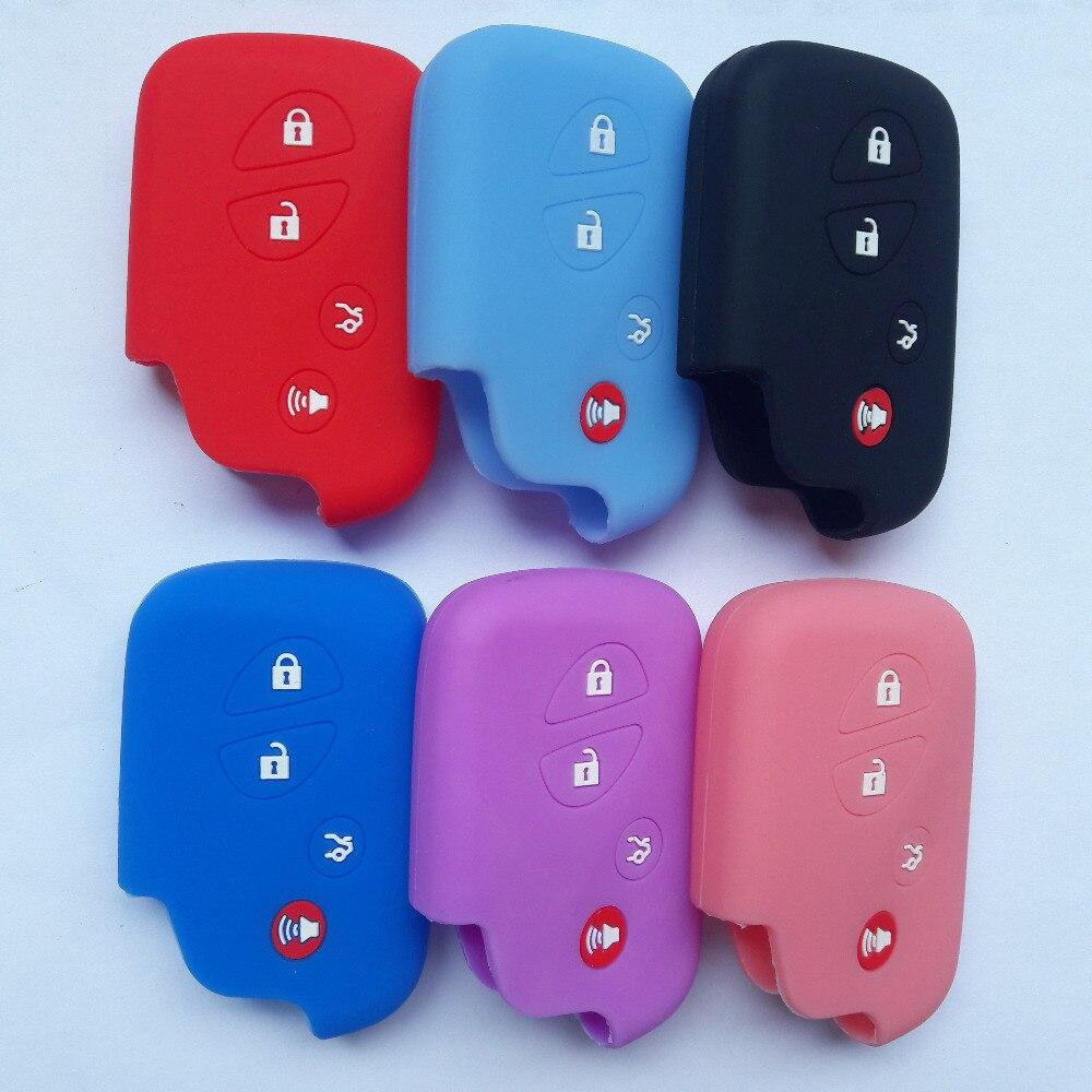 4 botão remoto chave caso capa de silicone para lexus ct200h es350 gs350 gs450h gs460 é is250 is350 titular da chave do carro