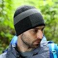 Nuevos sombreros de invierno rayas de lana de punto Skullies gorros para hombre Caps del Hip Hop gorras Beanie sombrero caliente del