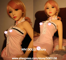 WM DOLLS Top quality 100cm small breasts Anime Silicone Sex Dolls Metal Skeleton full Size Lifelike vagina love dolls for men