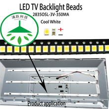 100pcs/lot new high power cool white lamp beads 3v for lcd tv repair led tv backlight strip light-diode 2835osl 3v 350ma smd