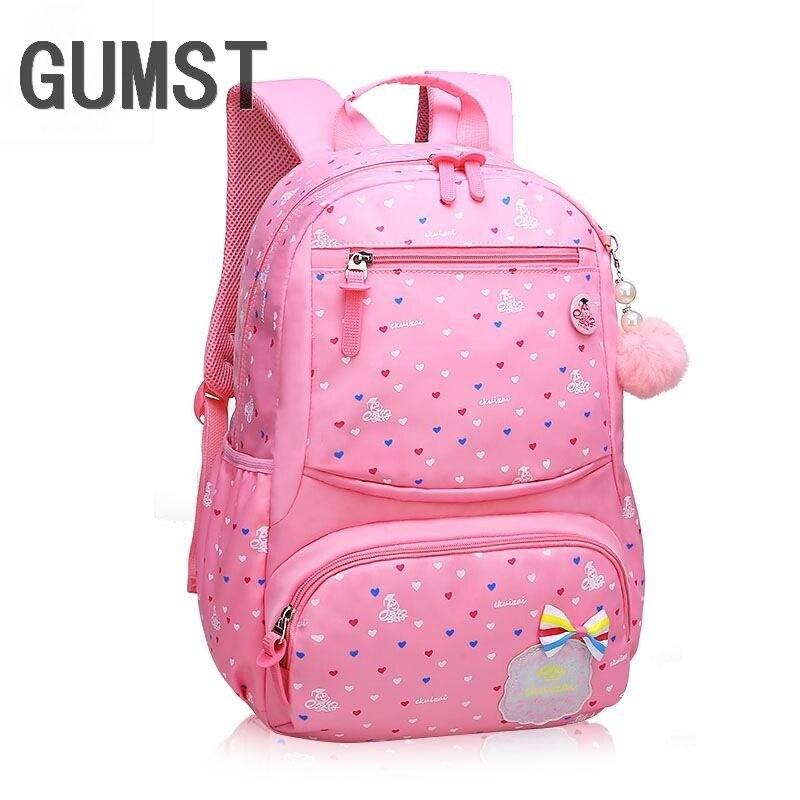 4a43da4557fc GUMST бренд 2019 модная школьная сумка для девочек непромокаемая легкая  сумка для девочек рюкзак с принтом рюкзак для 1-3-6 класс студент