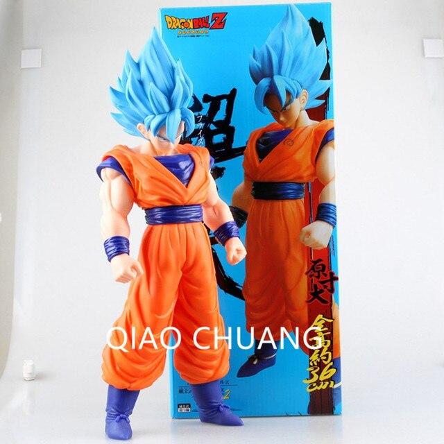 Muito Grande Azul Cabelo Son Goku Dragon Ball Z UM Mundo Das Artes Marciais Kakarotto Super Saiyan Ação PVC Figura Modelo brinquedo G139