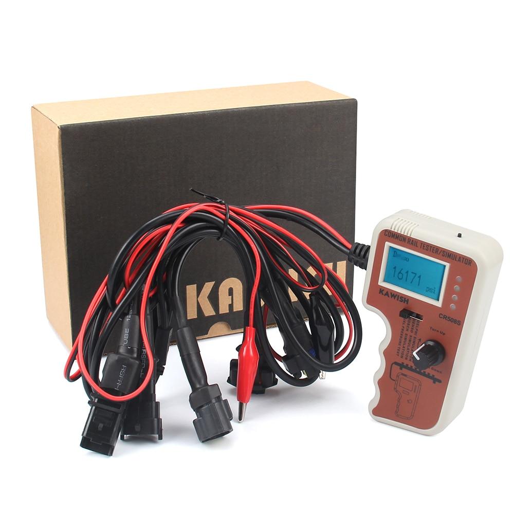 Mise à niveau CR508S testeur de pression à rampe commune numérique et simulateur pour outil de diagnostic de moteur de pompe à haute pression CR508S, plus