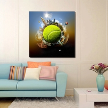 Tennis Wall Art Canvas Earth Ball Famous Building Posters and Prints Decor Painting for Living Room Home