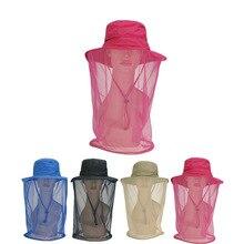 Outdoors Sunscreen Motion Hat 360 Gauze Defence Mosquito summer Hats for women Jungle net yarn anti-mosquito Cap chapeu feminino