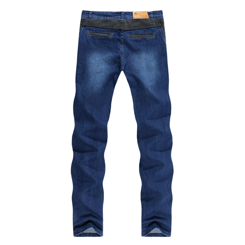 KSTUN Mens Jeans Korean Quality Brand Dark Blue Slim Leg Drawstring Casual Trousers Male Joggers