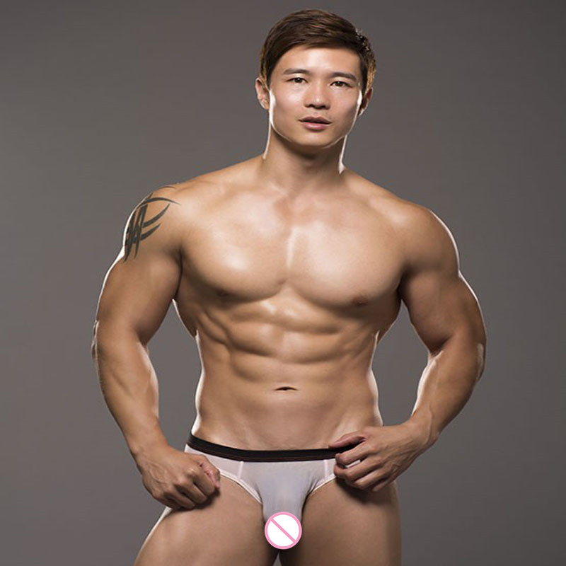 2016 New Sexy Mens Briefs Transparent Mesh See Through Bulge Pouch Underwear Man Gay Erotic Sheer Jockstraps Cuecas Panties in Briefs from Underwear Sleepwears