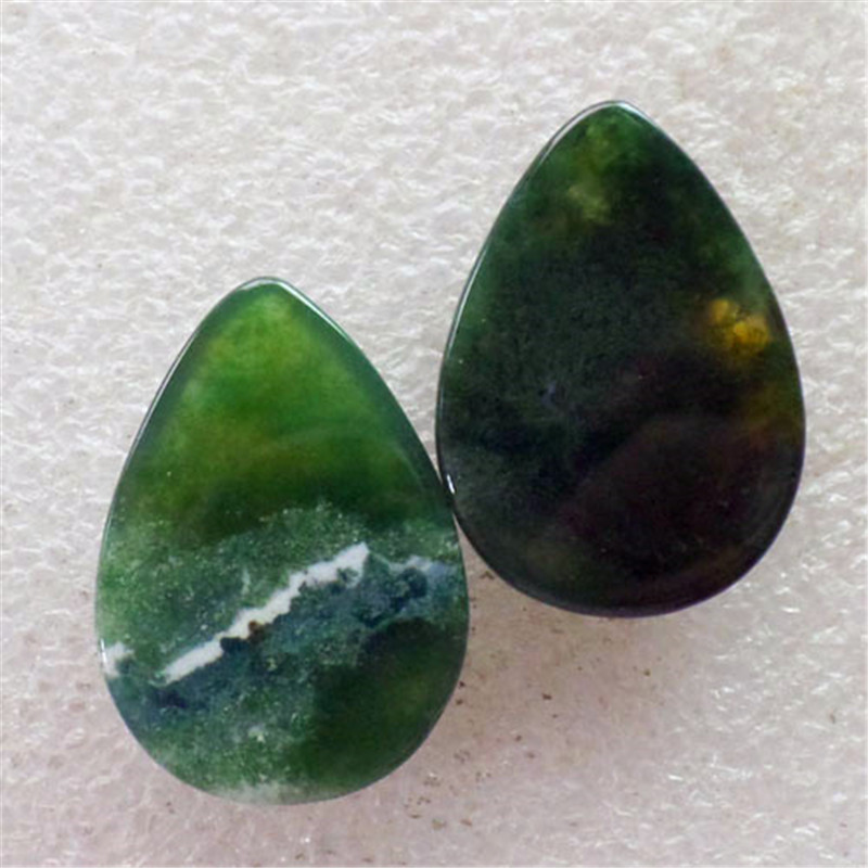 (2 pieces/lot) Wholesale Natural Indian Agates Teardrop CAB Cabochon 30x22x6mm Free Shipping Fashion Jewelry C0000847