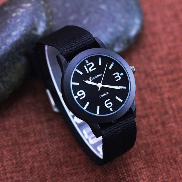2018 famous brand children boys canvas strap quartz wristwatches primary middle