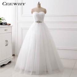 Ceewhy крест-накрест Милая свадебное платье со стразами Свадебные платья Hochzeitskleid Свадебное Платье Vestidos De Noiva свадебное платье