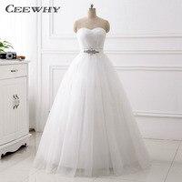 CEEWHY Criss Cross Sweetheart Wedding Dress Crystal Brautkleider Hochzeitskleid Bridal Dress Vestidos de Noiva Wedding Gown