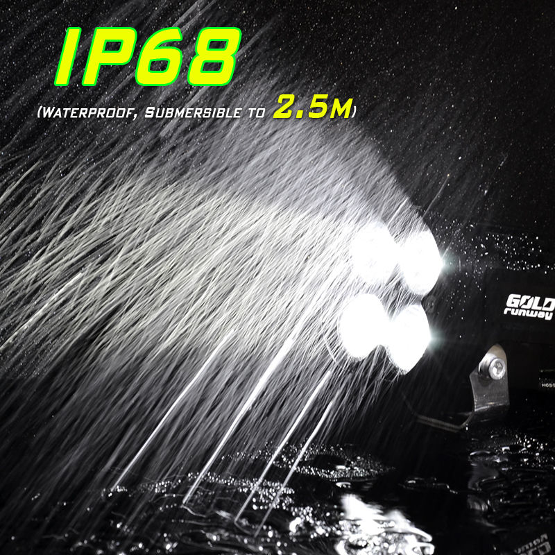 ФОТО 40W U3 LED Motorcycle 4200LM Universal Motorcycle Lamp Headlight High quality LED Driving Fog Spot Head Light