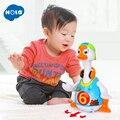 Умные танцы Гусь электронные ходьба музыкальные игрушки и свет обучения Развивающие игрушки для детей 18 месяцев +
