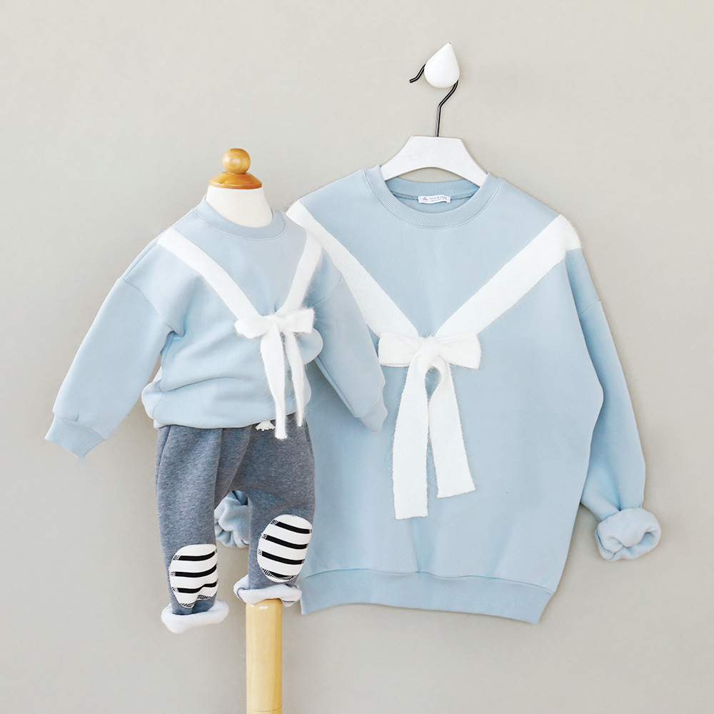 Baby girl boys sweatshirts o neck bow tie hoodies family for Baby shirt and bow tie