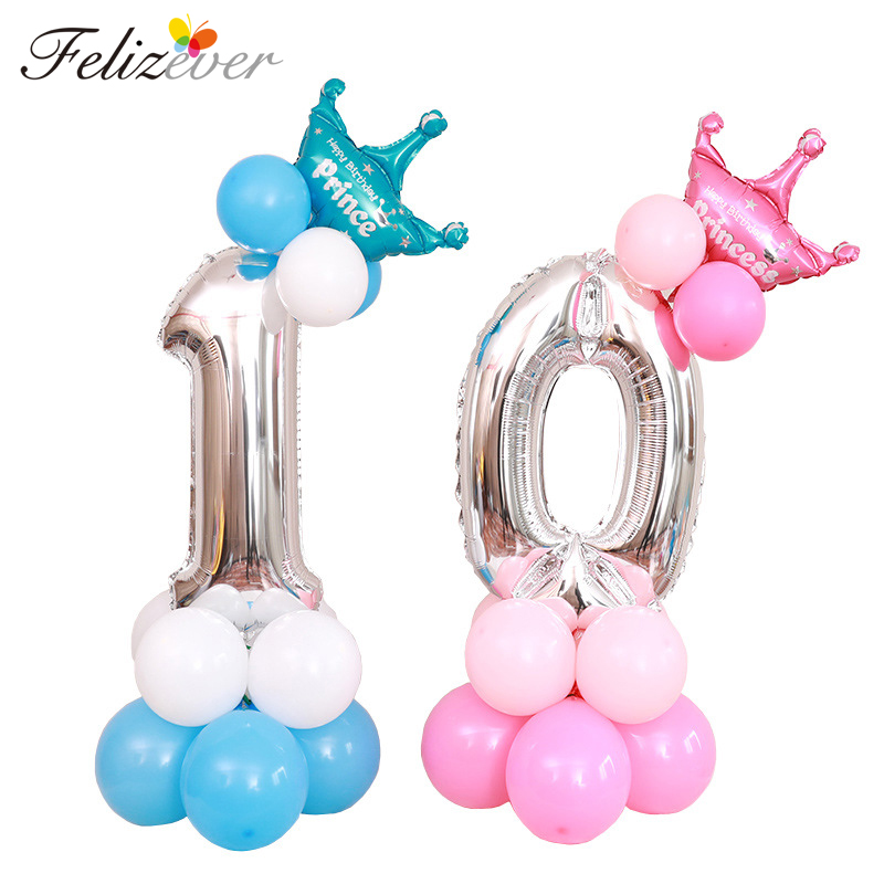 <font><b>Birthday</b></font> Number Balloon Column Set Kits Kids Boy <font><b>Girl</b></font> <font><b>Birthday</b></font> Party <font><b>Decoration</b></font> Party Supplier Number 0 <font><b>1</b></font> 2 3 4 5 6 7 8 9 image