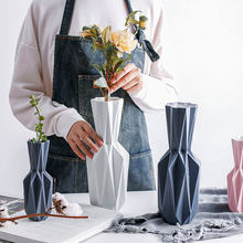 Nordic Style Modern Origami Vases Ceramic Tabletop Flowerpot Vase Home Decoration Simple Flower Pot Household Decor(China)