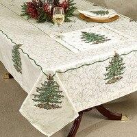 Table Cloth Christmas Tree Printed Fabric Jacquard Tablecloth 60 X 120 Oblong