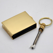 TOP BRAND ZORRO Outdoor Survival Camping Fire Starter Waterproof Metal Match Box Striker Lighter