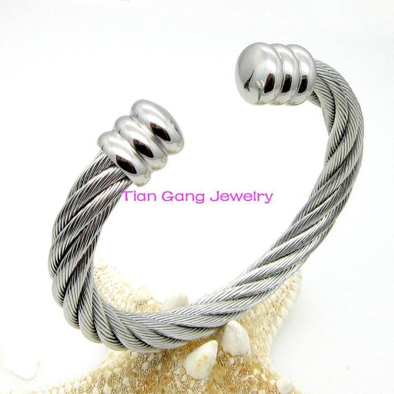 Fashion wire font b bracelets b font bangles font b Jewelry b font Stainless steel Women