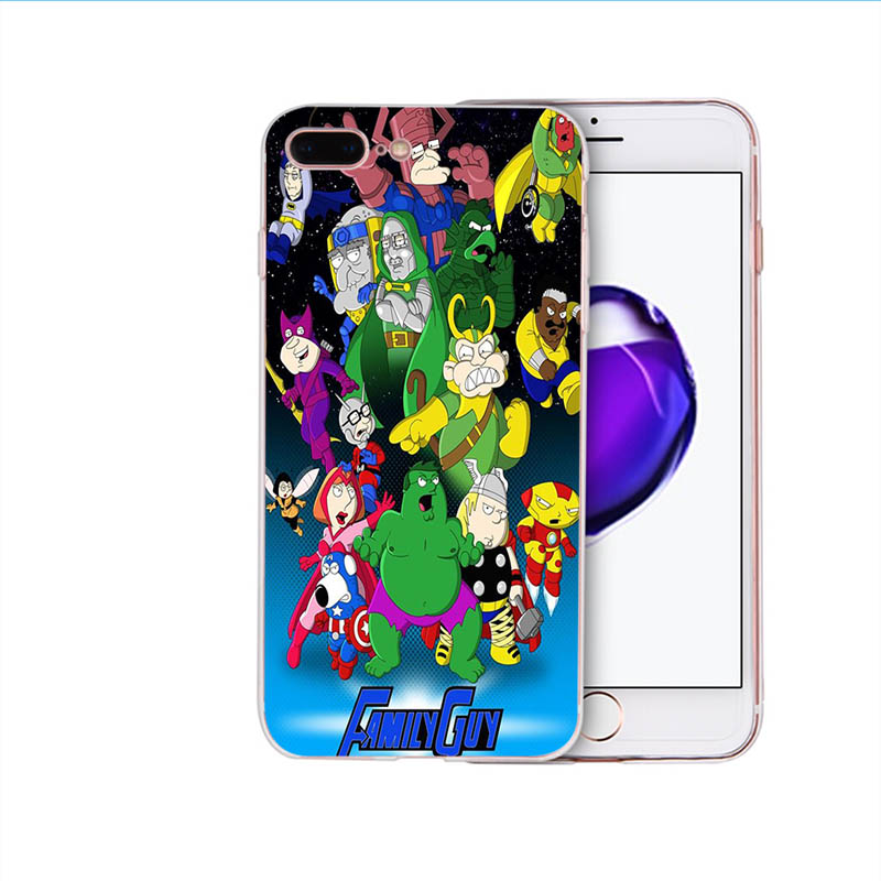 FAMILY GUY Soft silicone phone cover for iphone case 5 6s 6 7 8 plus x xr xs max 5s se TPU fitted mobile cases funny patterns in Half wrapped Cases from Cellphones Telecommunications