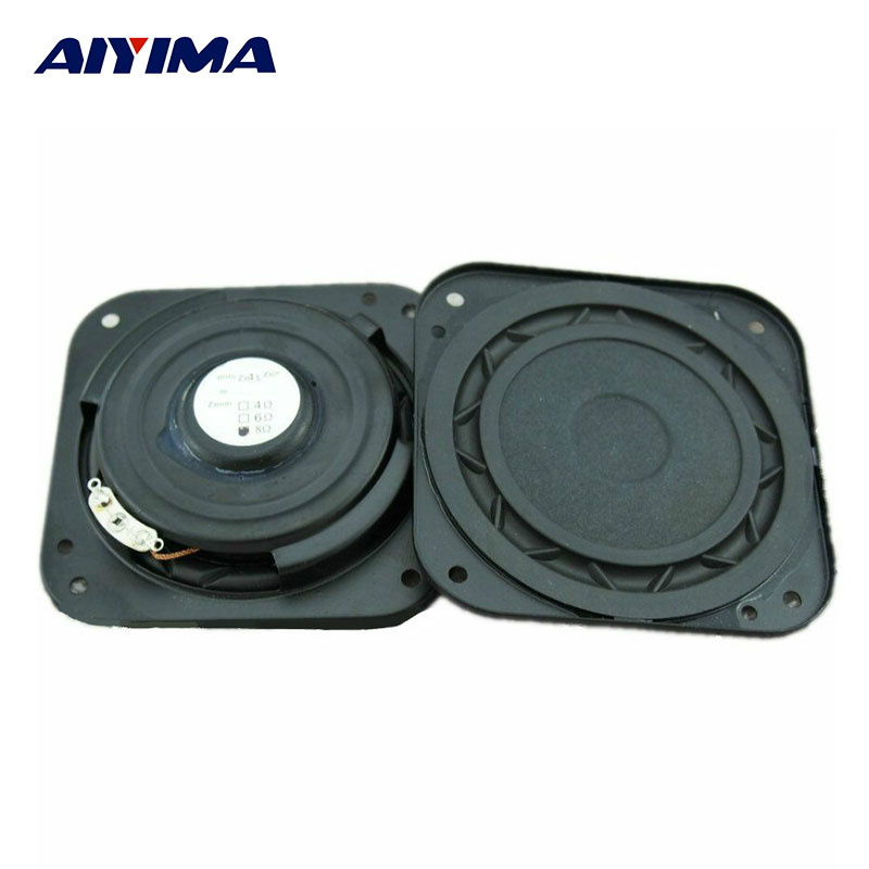AIYIMA 2pcs 3 Inch Audio Speakers Hifi 8Ohm 15W Ultra Thin Subwoofer DIY Home Stereo Bass Shock HiFi Sub Woofer Bass Speaker