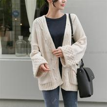 cardigan.Women's 2017 Spring and Autumn New fashion casual sweater wide sleeves loose sweater jacket.TB83