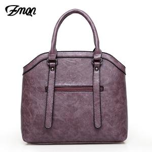 Image 3 - Zmqn bolsas de mão feminina saco 3 conjuntos 2020 combinação do vintage bolsa crossbody para as mulheres couro do plutônio bolsa senhora feminina c653